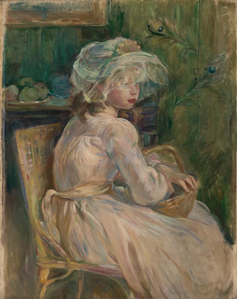 """Young Girl with Basket"" 1892 by Berthe Morisot"