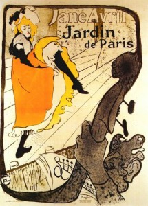 12 - Henri de Toulouse-Lautrec (1864 -1901) Jane Avril at the Jardin de Paris (poster), 1893