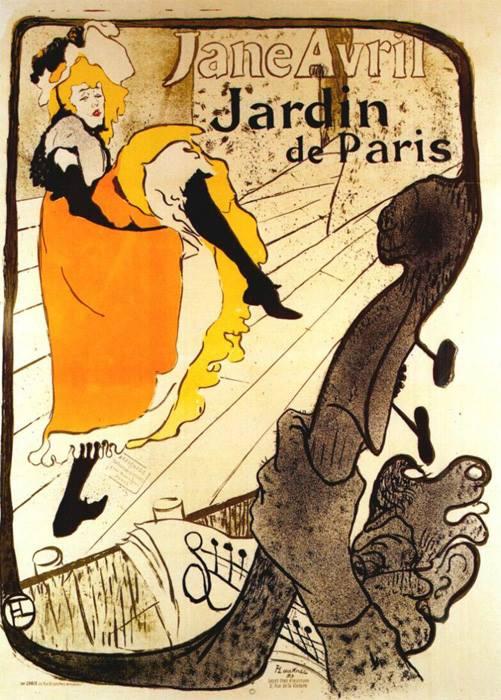 12 - Henri de Toulouse-Lautrec (1864 -1901) Jane Avril at the Jardin de Paris (poster), 1893