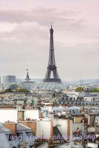 La Tour Eiffel from the Printemps terrace