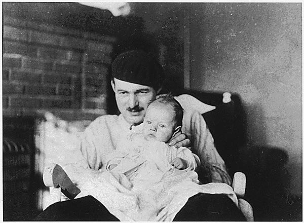 Hemingway and his son