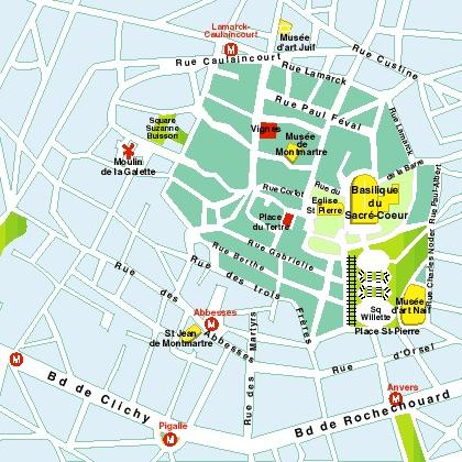 Plan de Montmartre