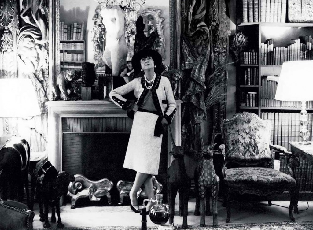 Coco Chanel at her apartment