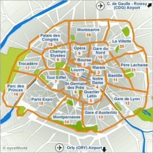 Paris'map