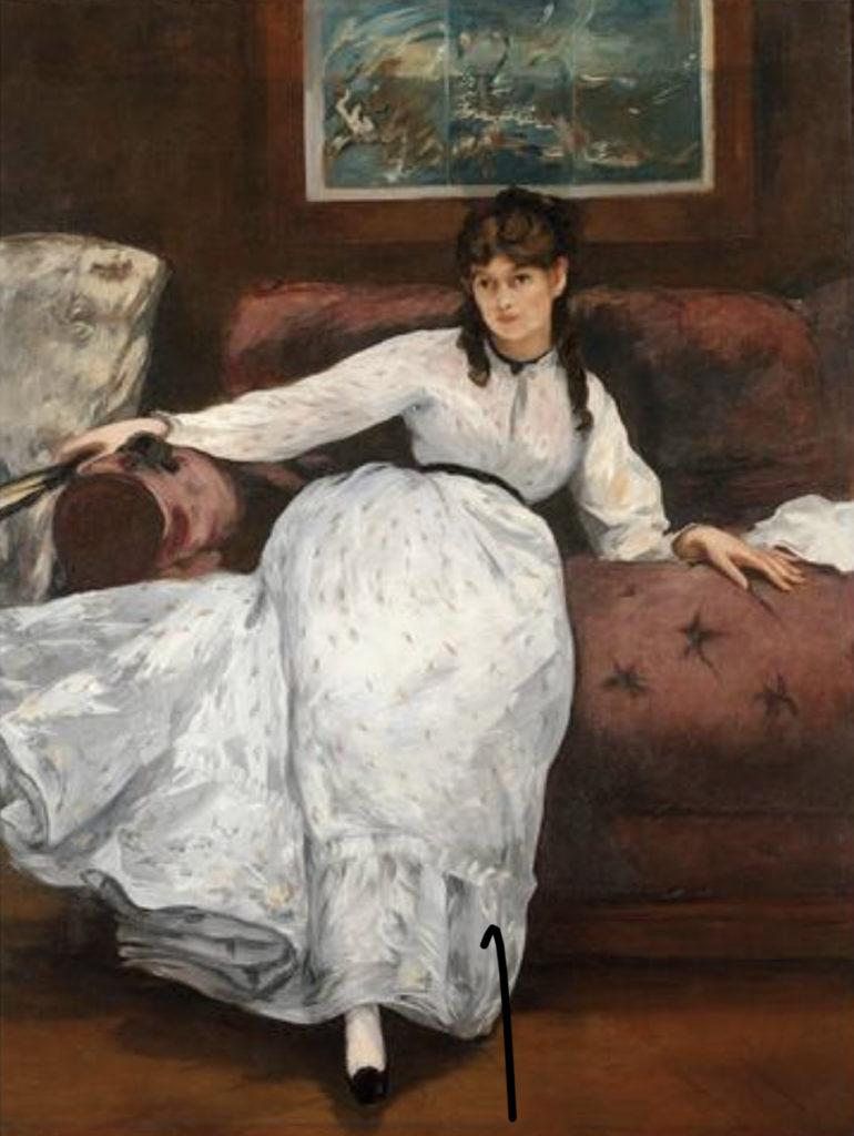 Berthe Morisot - The rest - Portrait of Berthe Morisot - E Manet - 1870