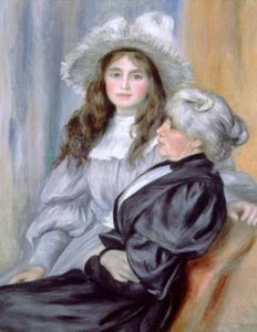 Berthe Morisot and her daughter Julie Manet, 1894, by A. Renoir