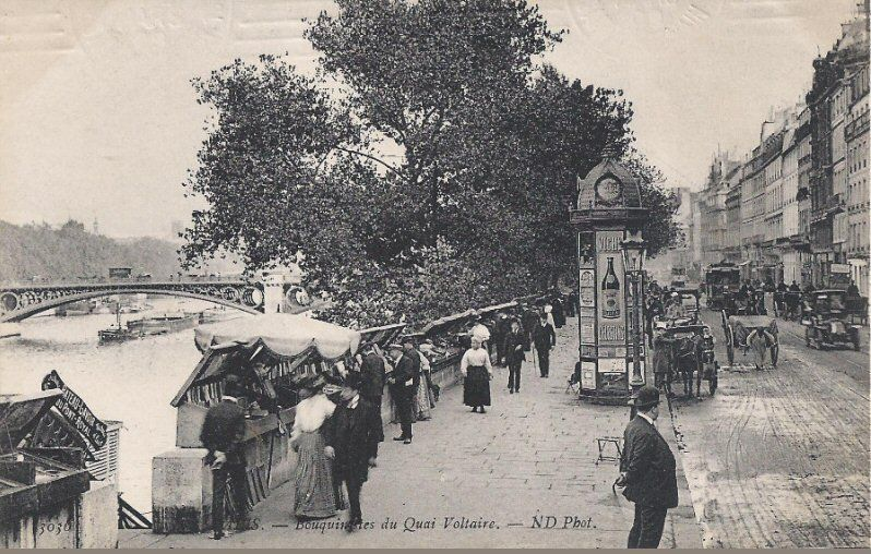 Bouqinistes - Quai Voltaire 1910