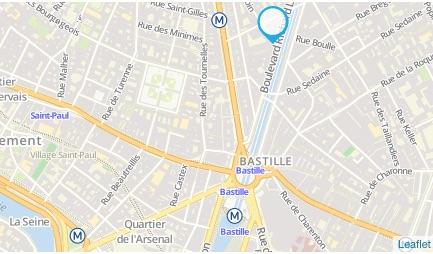 Carte pour marché Bastille