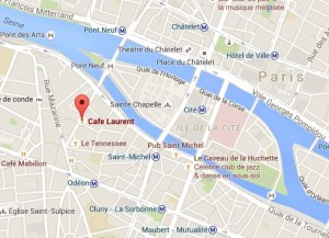 Carte repérage Café Laurent