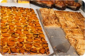 Apricot tart and Apple tart