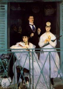 Edouard-Manet -The-Balcony -1868 (Model : Berthe Morisot)