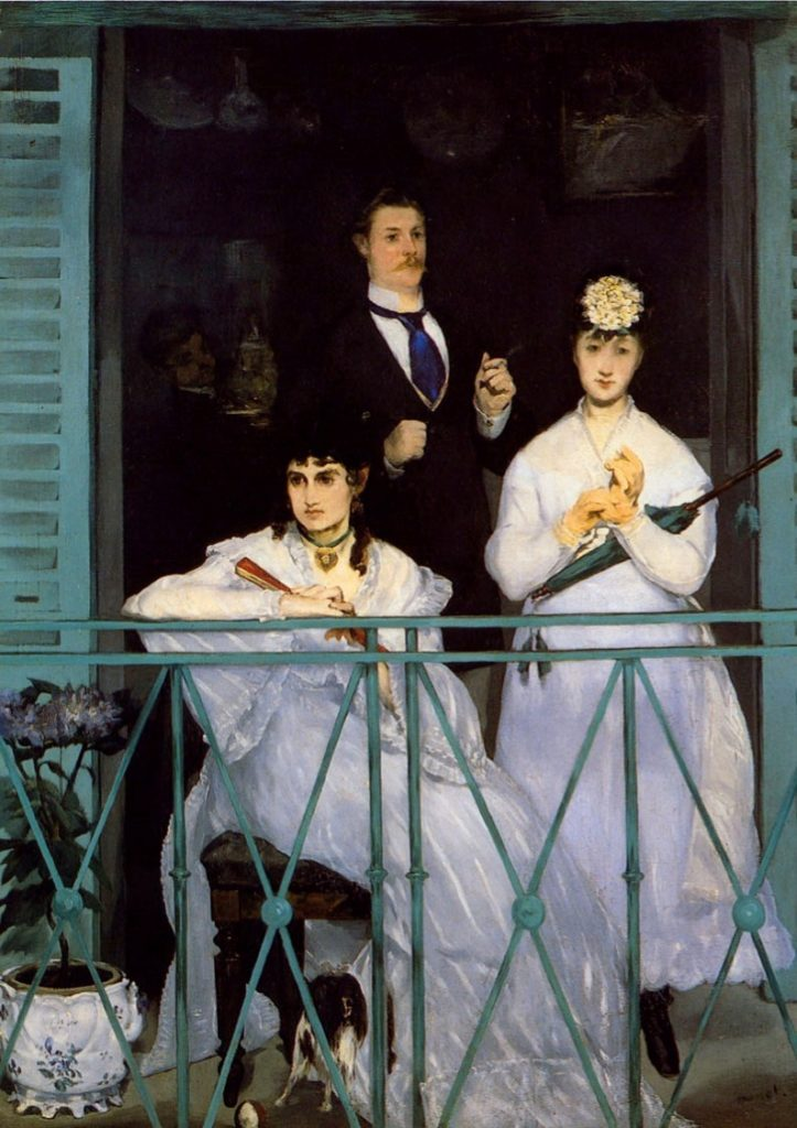 Edouard-Manet -The-Balcony -1868 (Model : Berthe Morisot)