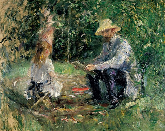 Eugene Manet with his Daughter in the Garden,1883