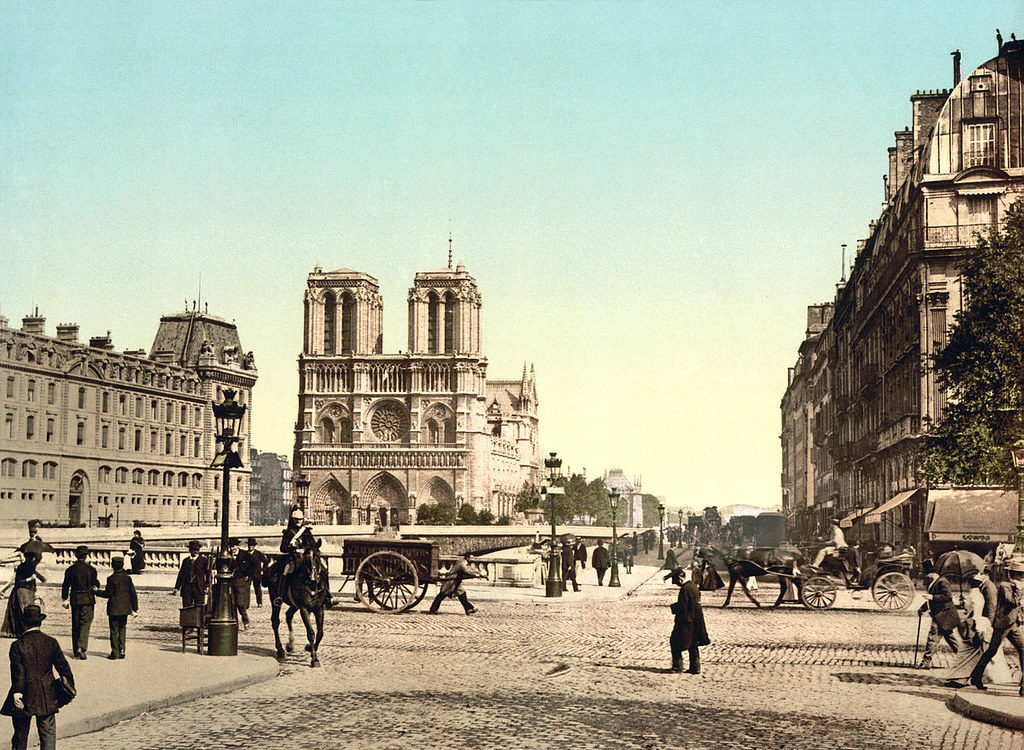 Notre Dame, and St. Michael bridge, ca. 1890