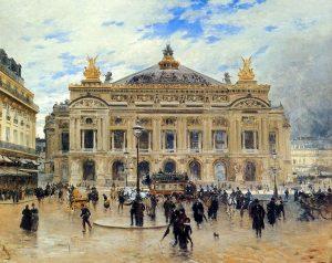 Peinture de L'opéra à la Belle epoque
