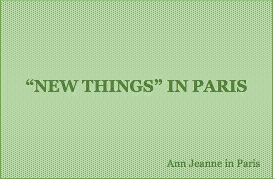 Photo verte New Things in Paris