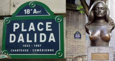 Place Dalida pancarte