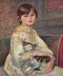 Portrait de Julie Manet et son chat - 1887  A. Renoir