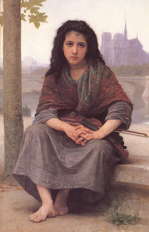 The Bohemian, a painting by William-Adolphe Bouguereau, 1890