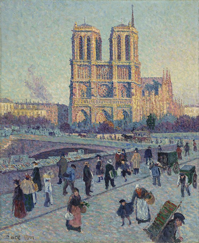 The Quai Saint-Michel and Notre-Dame, a painting by Maximilien Luce, 1901