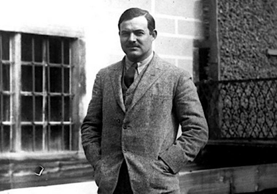 The as ever confident Hemingway, Paris 1922. Photo- Hemingway Collection