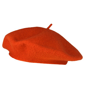 beret-laine-enfant-orange