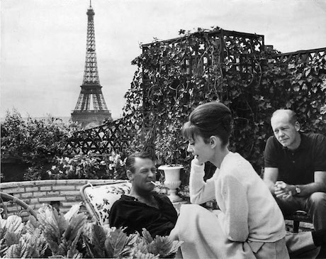 n Paris while filming with William Holden on the roof of the Hotel Raphael.