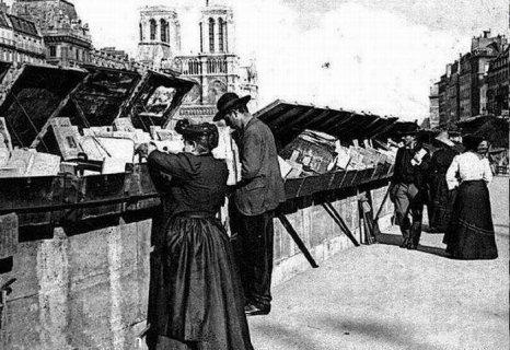 sur le quai des Grands Augustins - années 1900