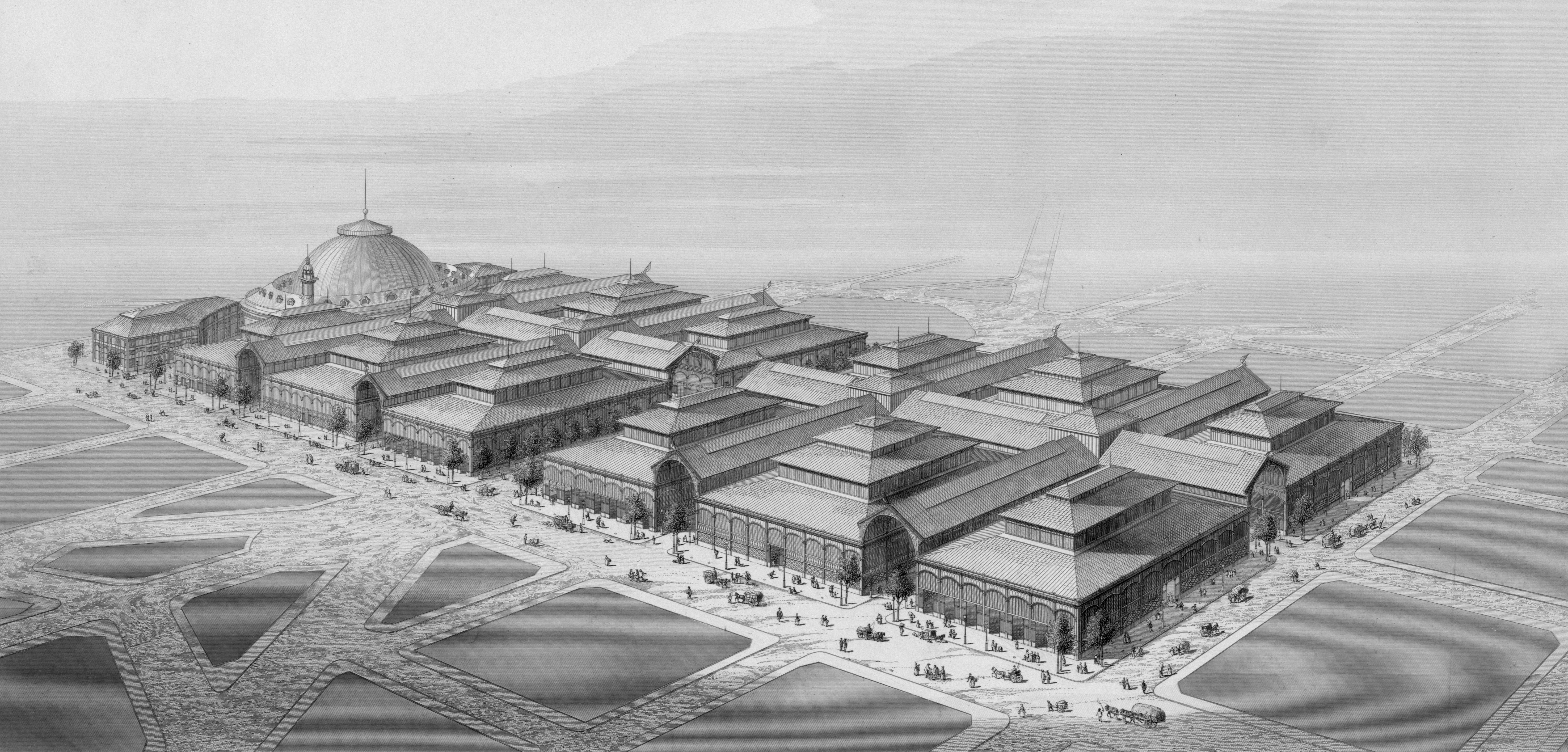 Design of Les Halles in 1863, By Victor Baltard